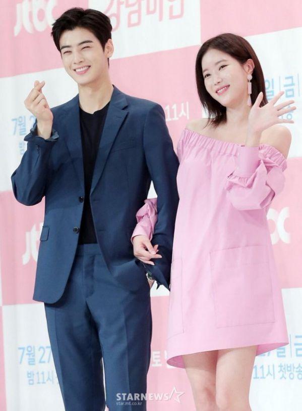 Họp báo 'My ID is Gangnam Beauty', Cha Eun Woo đẹp bất chấp 14