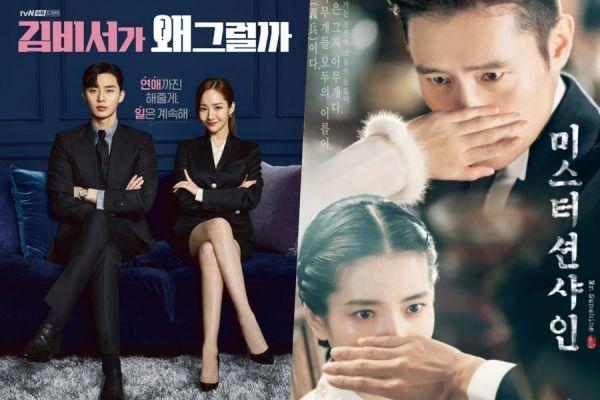 """""""Thư Ký Kim""""và '""""Mr.Sunshine"""" đứng đầu BXH phim tại Hàn Quốc"""