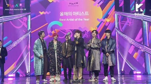 Tổng kết giải thưởng MelOn Music Awards 2018: BTS và iKON thắng lớn 5