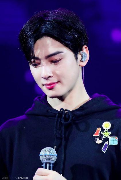 Cha Eun Woo khóc và xin lỗi trước Fan vì làn da không mịn màng 1