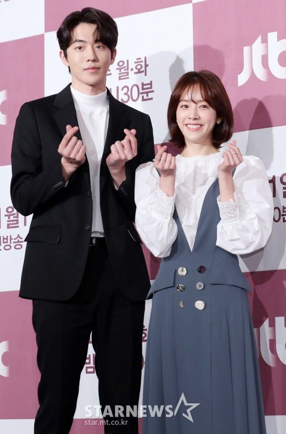 """Họp báo """"Dazzling"""": Sự chênh lệch chiều cao đáng yêu giữa Han Ji Min và Nam Joo Hyuk 19"""