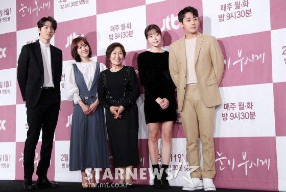 """Họp báo """"Dazzling"""": Sự chênh lệch chiều cao đáng yêu giữa Han Ji Min và Nam Joo Hyuk 26"""